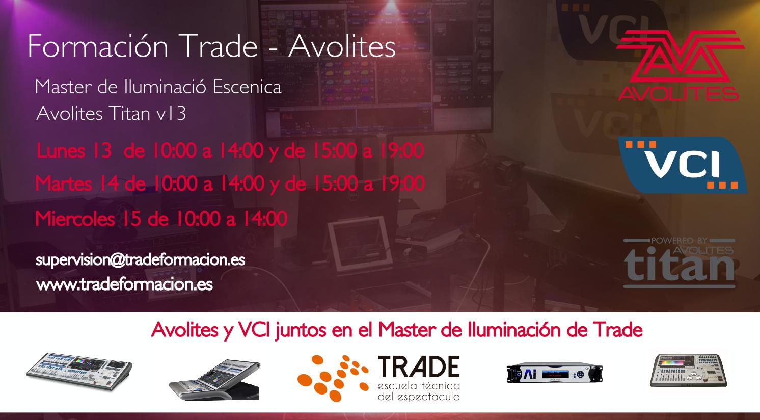 Formación Trade - Avolites